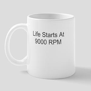 Life Starts At 9000 RPM Mug