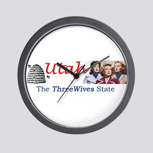 Three Wives State Wall Clock