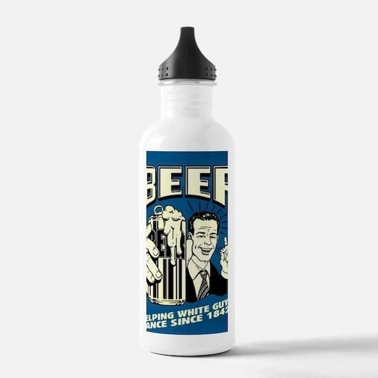 Beer Helping White Guy Water Bottle