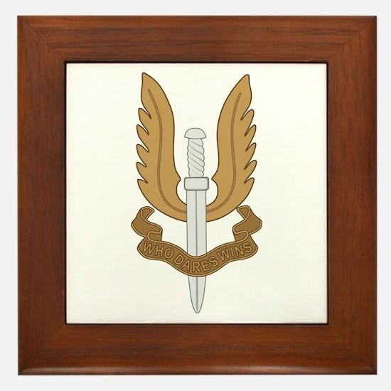 British SAS Framed Tile