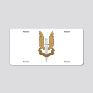 British SAS Aluminum License Plate