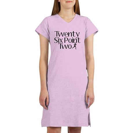 Twenty Six Point Two Marathon Women's Nightshirt