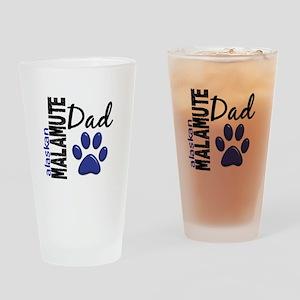Alaskan Malamute Dad 2 Drinking Glass