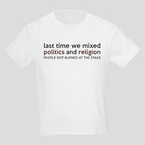 Don't Mix Politics and Religion Kids Light T-Shirt