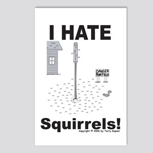 Squirrel Minefield Postcards (Package of 8)