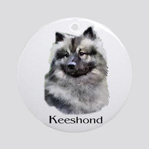 Keeshond Gifts Ornament (Round)