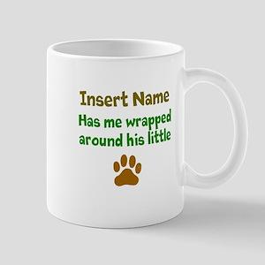 My dog wrapped around finger Mug