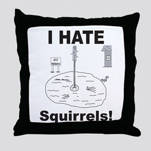 Squirrel Moat Throw Pillow