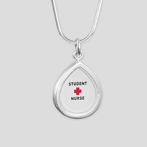 Student Nurse Silver Teardrop Necklace