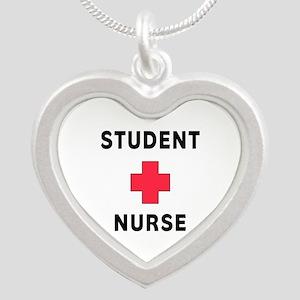 Student Nurse Silver Heart Necklace