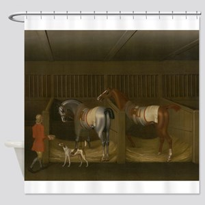 At the Stable Shower Curtain