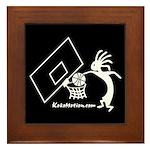 Kokopelli Basketball Player Framed Tile