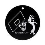 Kokopelli Basketball Player Ornament (Round)