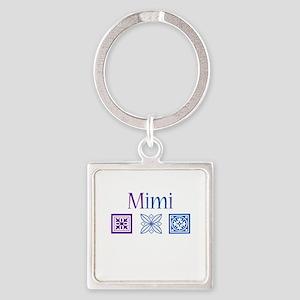 Mimi Quilt Blocks Square Keychain