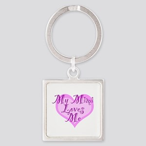 My Mimi Loves Me Square Keychain