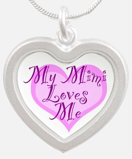 My Mimi Loves Me Silver Heart Necklace