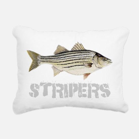 Fat Stripers Rectangular Canvas Pillow