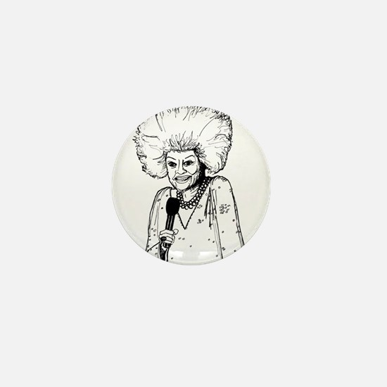 Phyllis Diller Illustration Mini Button