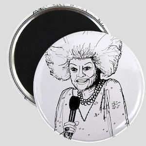 Phyllis Diller Illustration Magnet