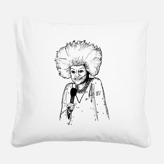 Phyllis Diller Illustration Square Canvas Pillow