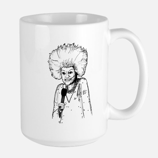 Phyllis Diller Illustration Large Mug
