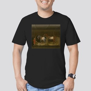 At the Stable Men's Fitted T-Shirt (dark)