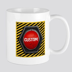 Customized Big Red Button Mug