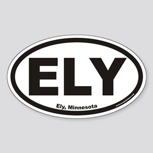 Ely Minnesota ELY Euro Oval Sticker