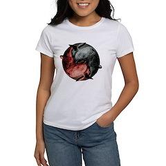 Yin Yang Rabbits Women's T-Shirt