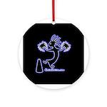 Kokopelli Cheerleader / Pep S Ornament (Round)