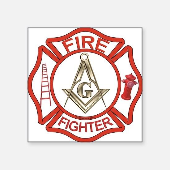 Mason Fire Fighter Rectangle Sticker