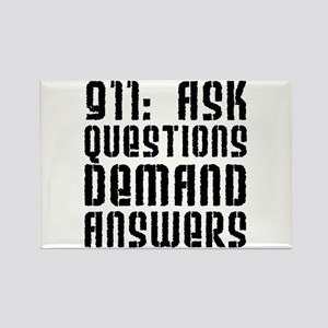 911: Demand Answers Rectangle Magnet
