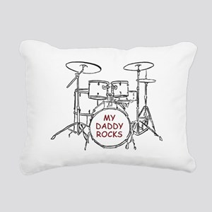 dadRocks4 Rectangular Canvas Pillow