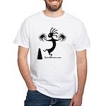 Kokopelli Cheerleader / Pep S White T-Shirt