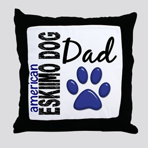 American Eskimo Dad 2 Throw Pillow