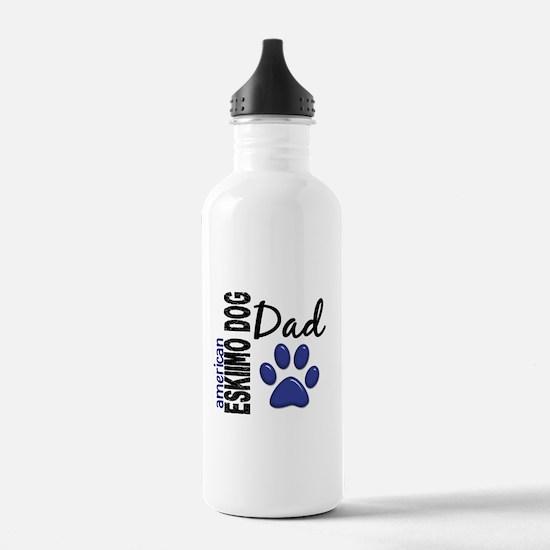 American Eskimo Dad 2 Sports Water Bottle