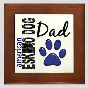 American Eskimo Dad 2 Framed Tile