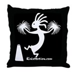 Kokopelli Cheerleader / Pep S Throw Pillow