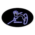 Kokopelli Wakeboarder Oval Sticker
