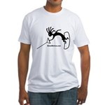 Kokopelli Wakeboarder Fitted T-Shirt