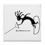Kokopelli Wakeboarder Tile Coaster