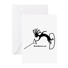 Kokopelli Wakeboarder Greeting Cards (Pk of 10