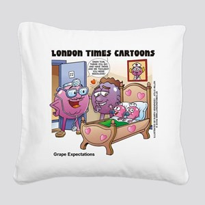 Grape Expectations Square Canvas Pillow