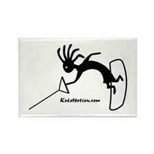 Kokopelli Wakeboarder Rectangle Magnet (10 pack)