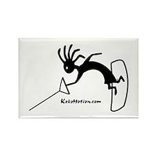 Kokopelli Wakeboarder Rectangle Magnet (100 pack)