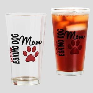 American Eskimo Mom 2 Drinking Glass
