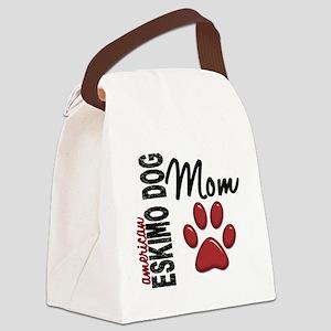American Eskimo Mom 2 Canvas Lunch Bag
