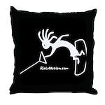 Kokopelli Wakeboarder Throw Pillow