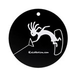 Kokopelli Wakeboarder Ornament (Round)