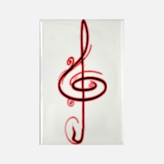 Music Note Rectangle Magnet